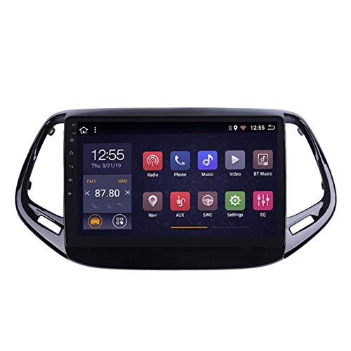 SDFLKH Android 8.1CAR Radio para Jeep Compass 2017-2018 Coche Estéreo GPS Navegación Táctil Pantalla Medding Player Doble DIN Head Unit Support WiFi Control De Volante(Color:WiFi:1+16G)