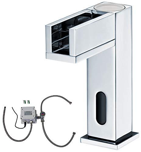 IR Infrarot LED Armatur Wasserhahn Automatik Waschbecken Chrom Kalt- und Warmwasser