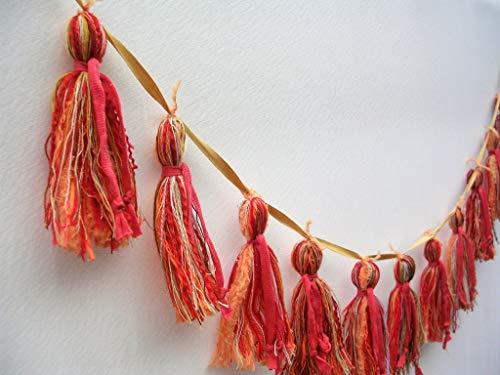 Craft Kit for Adults, Yarn Tassel Garland Kit, Make it Yourself Project, DIY Yarn Garland, Interior Rustic Country Decoration, Wall Hanging, Tassel Banner