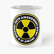 25th The 45th Unfit Impeach Trump Nukes 11 Oz Coffee Mugs Best Gift For Father Day