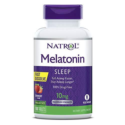 Natrol Melatonin Fast Dissolve Tablets, Helps You...