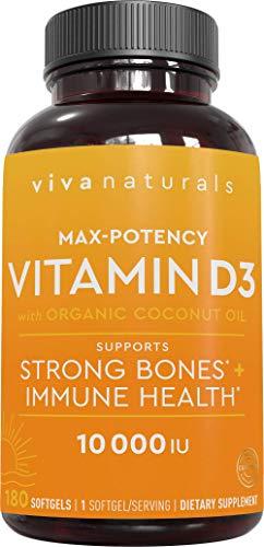 Viva Naturals Vitamin D3 (10,000 IU…