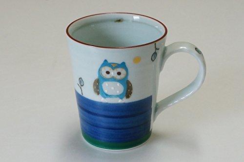 Imari Arita-yaki 12705007 kop met uilenmotief, blauw