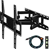 C-MOUNTS Full Motion TV Wall Mount Bracket with Articulating Dual Arm Swivel and Tilt fit 26 to 55...
