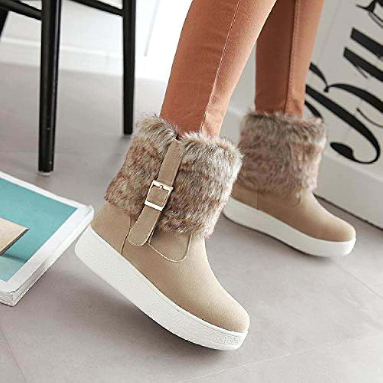HRCxue Pumps Damenschuhe Wasserdichte Plattform Dicke Pelz Schneeschuhe Kinder Baumwolle Schuhe Kurze Stiefel