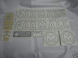 IHC McCormick Deering Model M Tractor Decals Vinyl Cut