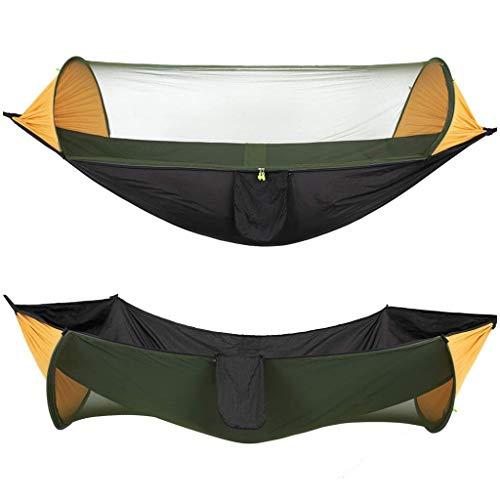 Hamacs, Meubles de Camping Moustiquaire à Ouverture Rapide Ombrage extérieur Double Swing Charge Ultra légère et Respirante 200 kg (Couleur: Camouflage, Taille: 290 * 140cm) Confortable