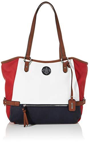 Rieker Damen Handtasche H1066, Mehrfarbig (Bianco/Rosso/Pazifik), 280x130x400 cm