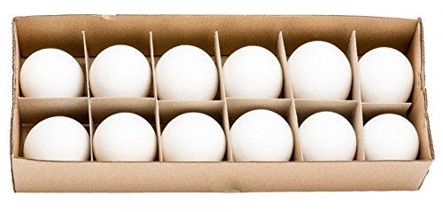NaDeco Hühnereier weiß 12 Stück Hühnerei Dekoeier Ostereier Osterdeko Osterdekoration