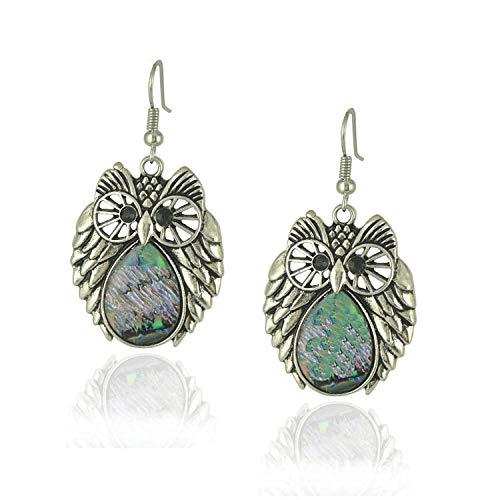 Ethnic style classical gem earrings European and American retro earrings spot jewelry-E1666 大owl