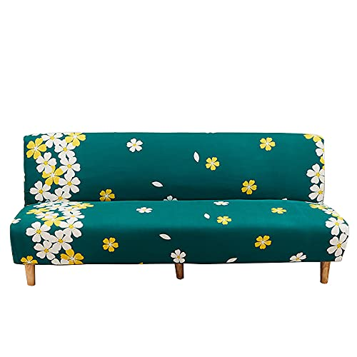 CHNSHOME Funda de sofá Cama sin Brazos 3 Plaza Funda sofá Clic-clack sin elástica Funda de sofá sin apoyabrazos con Estampado