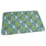 Bikofhd Deer Rabbit Tree Baby Reusable Changing Pad Portable Changing Mat