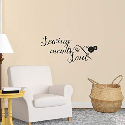 Parche pegatinas de letras del alma en la pared de la sala decoración del hogar arte vinilo pared calcomanía90X42cm