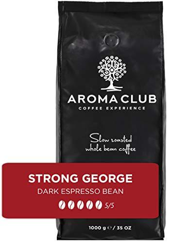 Aroma Club Kaffeebohnen 1 kg – Strong George Dark röstung – brasilianisch – Slow Roast – Für alle Kaffeemaschinen