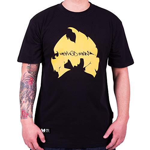WU Wear T-Shirt Method Man Logo, Urban Streetwear Fashion Chemise, Hip Hop, pour Hommes, Noir Taille 3XL, Couleur Black