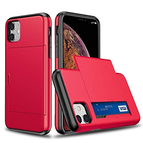 Suhctup Compatible con iPhone 11 Funda PC Duro y TPU Suave Doble Capa de Diseño Carcasa Protectora con Tarjetero Bolsillos Antigolpes Anti-Arañazos Protección Caso