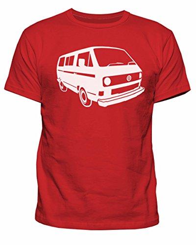 Herren-T-Shirt VW Campervan T25 Camper Retro Camp Van Volkswagen Top T-Shirt New S-XXL Gr. M, rot
