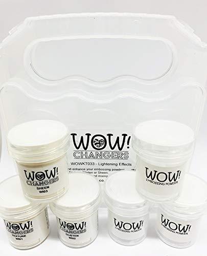 Wow! Embossing Powder Changers Lightening Effects Texture Glisten Sheen Kit WOWKT033