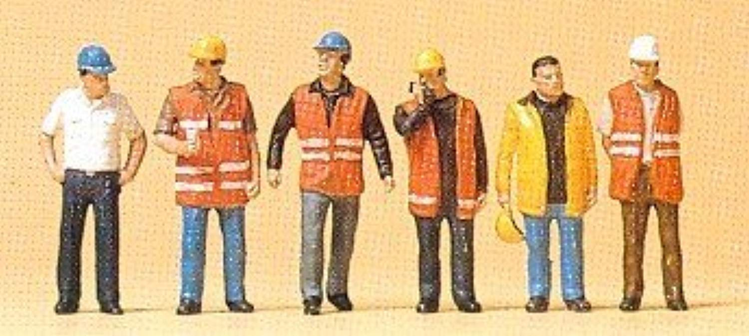 Preiser 10420 lavoroers in Safety Vests (6) by Preiser