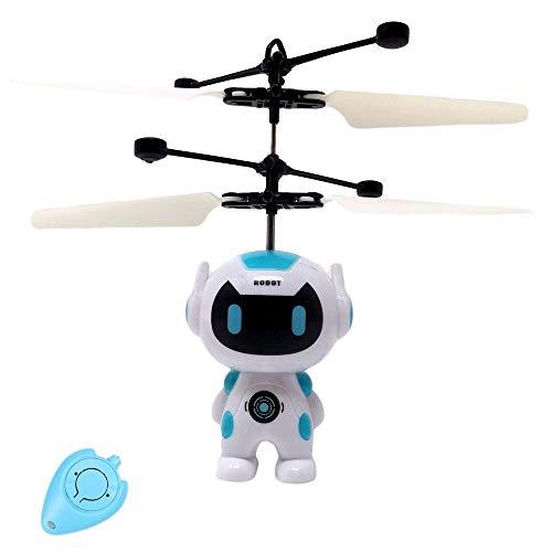 Fliegender Astronaut Spaceman Hubschrauber Einfach zu Steuern mit der Hand Mit heller LED Leuchtet Toll im Dunkeln Tolles Spielzeug ab 8 Jahren Inklusive IR Fernbedienung Super Geschenk,Roboter