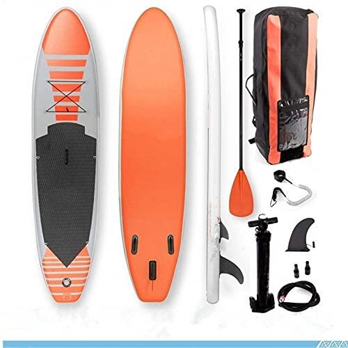 RHSMW Tabla Sup Hinchable, 315 * 76 * 10 Cm Paddle Inflable para Hombres Y Mujeres, Niños, Principiantes, Deportes Acuáticos, Tabla De Paletas, Mochila