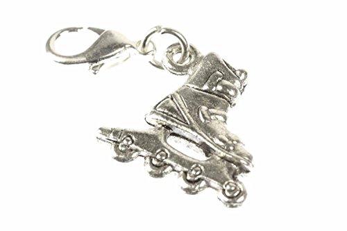 Miniblings Rollerskates Rollschuhe Charm Inlineskates Skates Silber - Handmade Modeschmuck I Kettenanhänger versilbert - Bettelanhänger Bettelarmband - Anhänger für Armband