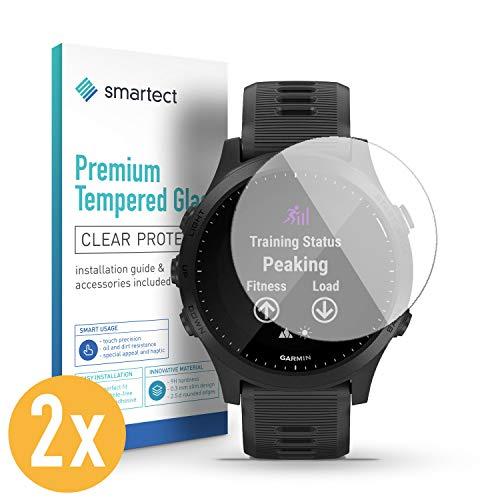 smartect Pellicola Protettiva per Garmin Forerunner 945 [2 Pezzi] - 9H Vetro Temperato – Design Ultra Sottile – Applicazione Anti-Bolle – Anti-Impronte