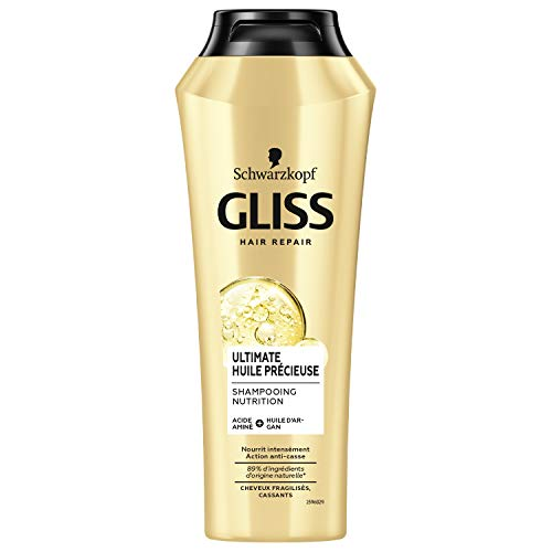Schwarzkopf Gliss- Champú Ultimate Huile Précieuse en envase de 250 ml. - Lote de 2