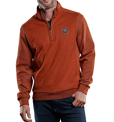 engbers Herren Sweatshirt Stehbund, 28772, Orange in Größe L