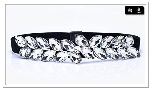 LONFENN Damen Imitation Diamond elastischer Gürtel Accessoires Kleid gürtel Gürtel Gürtel, weiß, 70 cm Geburtstage Festivals Mütter VäTER Geschenke zum Valentinstag
