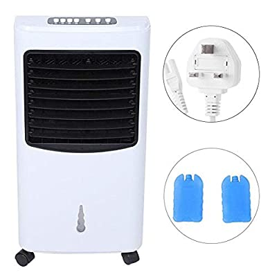 GOTOTOP Evaporative Air Cooler, Electric Conditioner Fan Water Cooling Humidifier Air Conditioning UK Plug 220V