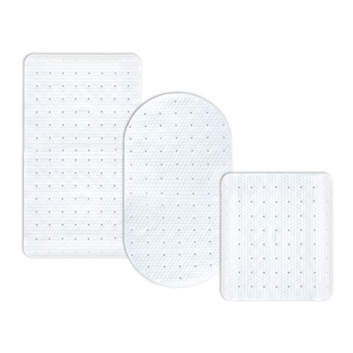 casa pura® Wanneneinlage Pure | weiß | schadstoffgeprüft | als Badewanneneinlage und Duschmatte erhältlich | 3 Größen | oval (68x36 cm)