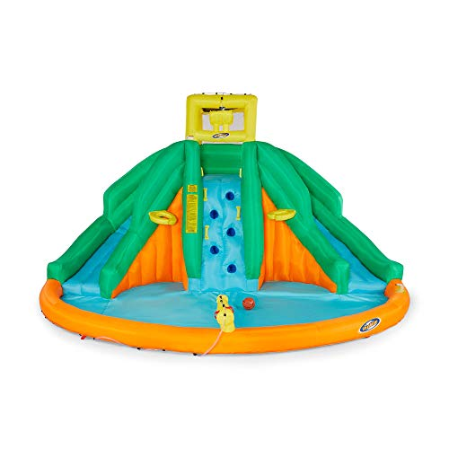 Kahuna Twin Peaks Kids Inflatable Splash Pool Backyard Water Slide Park