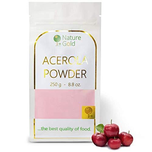 ACEROLA Polvo | Vitamin C | Extracto Crudo Liofilizado | 250g 8.8oz | 100% Natural & Sin Azúcar | …fortalece tu inmunidad natural