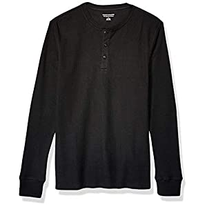 Men's Slim-fit Long-Sleeve Waffle Henley Shirt