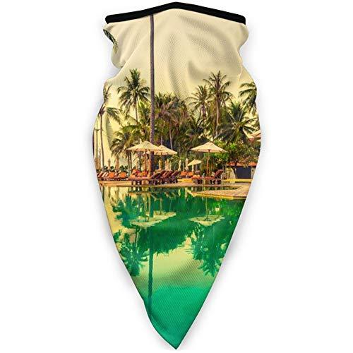 BEHDIJ Pasamontañas máscara facial a prueba de viento, máscara deportiva para mujeres, hombres, al aire libre, cómoda y transpirable, para el cuello, bufanda, piscina, baño de sol y árbol de coco