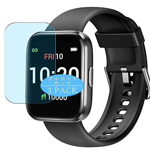 """[3 Pack] Synvy Anti Blue Light Screen Protector Compatible with Letsfit IW1 1.4"""" Smartwatch Smart watch Screen Film Protective Protectors [Not Tempered Glass]"""