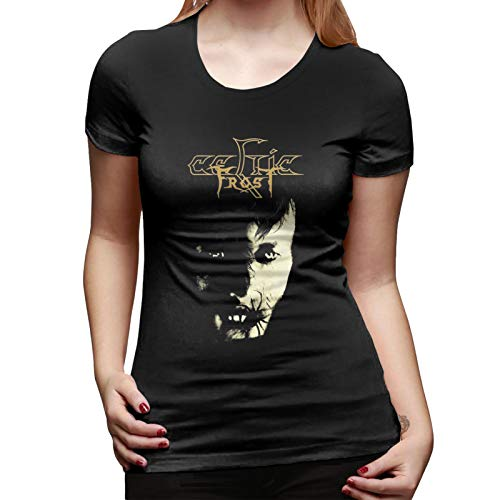 SIPONE Womens Short Shirt Fashion Printing with Celtic Frost-Monotheist Shirt Black