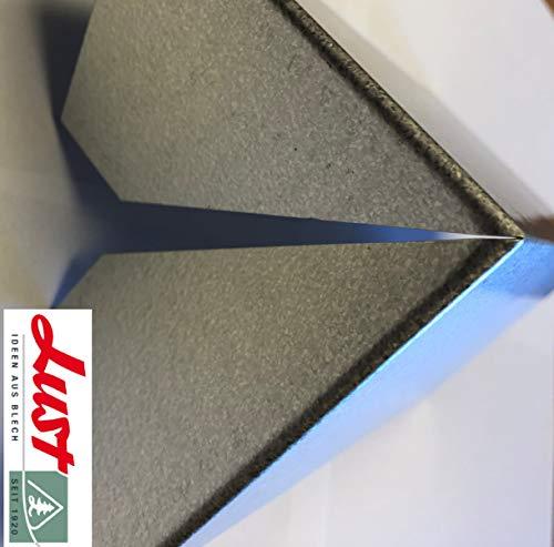 Lust Ideen aus Blech Seit 1920 Alu Zink Eckverbindung 270° zur Gestaltung eines Beetes in L-Form
