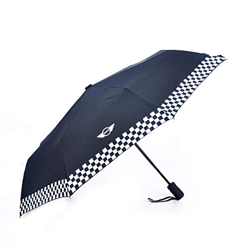 Auto Styling Double Layer Reverse Umbrella Winddichter Sonnenschirm für Mini Cooper One Jcw S Countryman Zubehör, Schwarz