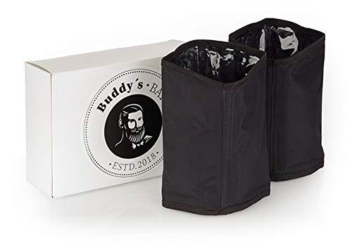 Buddy´s Bar - 2er Pack Kühlmanschetten, Ø 11 cm, H: 18 cm, Flaschenkühler für Sekt- und Champagnerflaschen, Weinkühler, wasserabweisender Nylonstoff, Schwarz