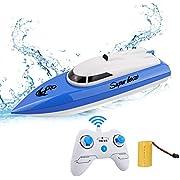 STOTOY RC Boot, Schnelle Geschwindigkeit Ferngesteuertes Boot, 2.4GHZ Fernbedienung Schnell Boot Spielzeug, High Speed Racing Ferngesteuert Boot Motorboot Geschenke für Jungen Mädchen Erwachsene