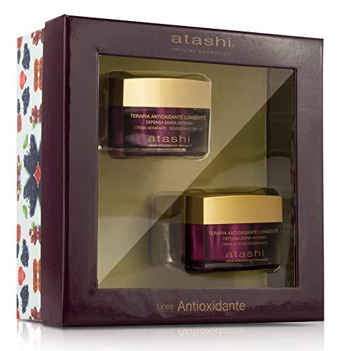Atashi | Cofre de Belleza | Ritual Antioxidante Hidratante Día + Crema Antiedad