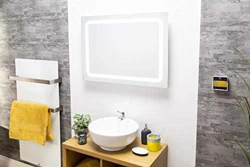 cürv Smart Infrarood Spiegelverwarming Muur Gemonteerd 15 Jaar Garantie Energie Efficiënte Elektrische Lage Energie Verwarming Slim Panel Verwarming met CE/RoHS/Certificaat