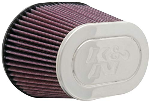 K&N Universal Clamp-On Air Filter: High Performance, Premium, Washable, Replacement Engine Filter: Filter Height: 5 In, Flange Length: 0.875 In, Shape: Oval Straight, RF-1001