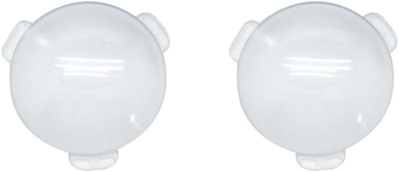 Biconvex Lens Set, Pop-Tech Optical Glass Lens Bi-Convex 34mm Diameter 45mm Focal Length Lens for Google Cardboard VR