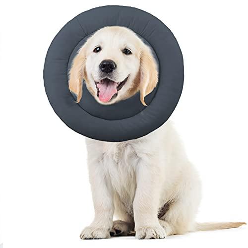 Supet Halskrause Hund Katzen Schützender Hundekragen Weich Schutzkragen Einstellbarer Kragen Cone für Haustiere Katzen Hunde Welpen Kätzchen Nach Operation und Verletzungen