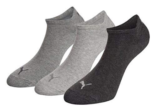 PUMA Unisex Sneakers Socken Sportsocken 9er Pack, 9paar = Anthrazit/Melange/Grau, 43/46