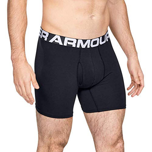 Under Armour Charged Cotton 6in 3 Pack Ropa Interior, Hombre, (Black/Black/Black (001), L