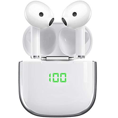 Cuffie Bluetooth senza fili,Auricolari Bluetooth Senza Fili In Ear auricolare con Hi-Fi Stereo Microfono Integrati,impermeabile Bluetooth V5.1 TWS Mini Cuffie in Ear per iphone/samsung